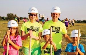 El Reno, First Pastor Charlie Blount, left, has mobilized his congregation to take Jesus outside the walls of the building. He and his wife, Renee, and their daughter, Avery and twin sons, Ethan and Evan, lead by example to make disciples.