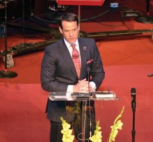 Blake Gideon, pastor, Edmond, First.
