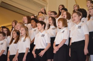 The Oklahoma Baptist Children's Choir performed live at the 23rd annual Rose Day Pro-Life Rally.