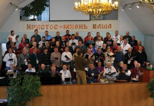 The group sings at Central Baptist Church in Sochi.