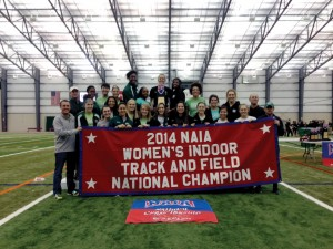 Lady Bison capture NAIA track title
