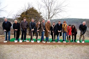 On Sat., March 8, at the Falls Creek Baptist Campgrounds, a special groundbreaking ceremony was held related to the new construction. The Mathena Family, who provided $7.4 million toward the building of the Mathena Event Center at Falls Creek, was among those represented, including, from left, Zachary Phillips, Gene Phillips, Sydney Mathena, John Mathena, Harold Mathena, Patricia Mathena, David Mathena, Lori Mathena, Jennifer Phillips and Melissa Phillips.
