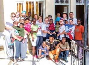 Members of Broken Arrow, Battle Creek took 75 pairs of shoes provided by Witness Kicks to Ethiopia.