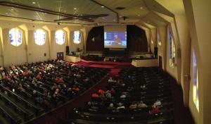 Broken Arrow, BattleCreek Pastor Alex Himaya preached via simulcast at a recent service at Tulsa, Immanuel, now called theChurch.at Downtown.