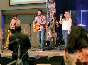 Worship was led by Randy and Lauren Faram and their band.