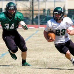 White tops Green in OBU football Spring Game