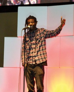Christian rapper Propaganda shared poetic talks about everyday challenges on his spiritual journey.