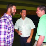 Johnny Montgomery, Andy Finch and Shane Hall share a light hearted moment
