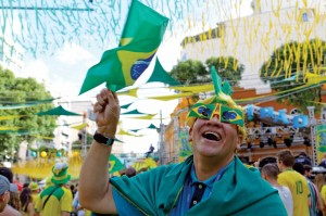 Thousands of World Cup fans watch matches in the Tijuca district of Rio de Janeiro. IMB missionaries and student teams hope to make Gospel connections during the international sporting event.