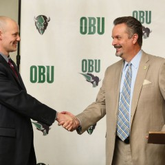 OBU introduces Quinn Wooldridge as Bison's 19th men's basketball head coach