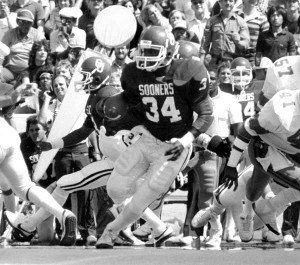 Tillman was an All-American running back at OU from 1982-86 and was captain of the 1985 National Championship team. (Photo: University of Oklahoma Athletic Communications)