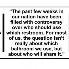 Rite of passage: Restroom wars