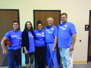The dental clinic crew included, from left, Drew Hendrix, Sharon Yust, Laura Pennington, Rocky McElvany, and Kent Smith. Photos Provided