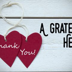Rite of passage: A grateful heart