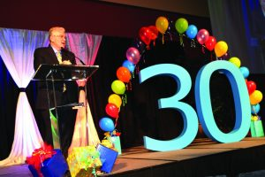 Anthony L. Jordan speaks at a 30th anniversary Hope banquet. Photo: Lauren Capraro